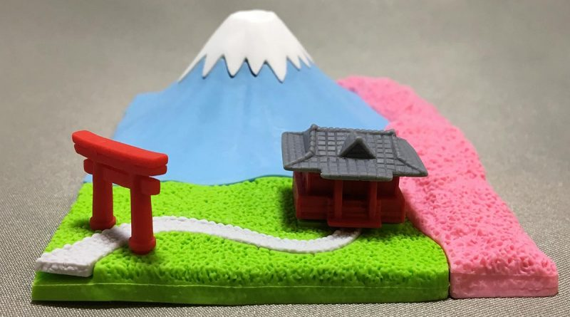 Mount Fuji Eraser With Shinto Shrine - Front view